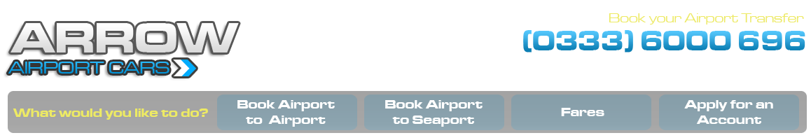 London Airport Transfers by Arrow Airport Cars Heathrow to Gatwick Taxi Transfer Service